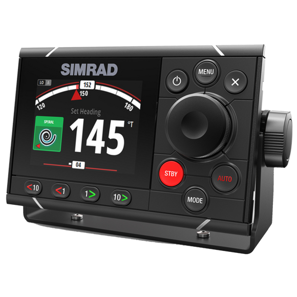 Commercial-grade autopilot controller with 4.1-inch full-colour display, rotary control dial, and dedicated dodge keys.