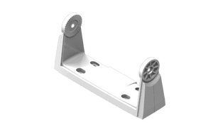 White Mounting Bracket for the Link-6 VHF