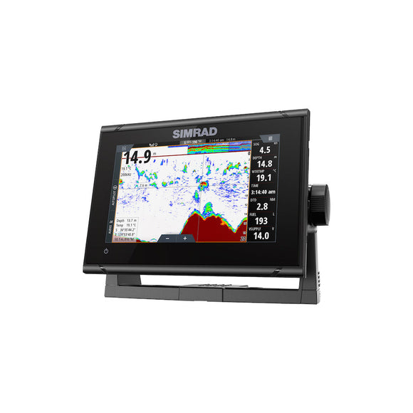 GO7 XSR ROW HDI XDCR 7-inch chartplotter and radar display with HDI transducer.