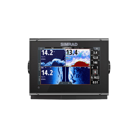 GO7 XSR ROW TOTALSCAN 7-inch chartplotter and radar display with TotalScan™ transducer.
