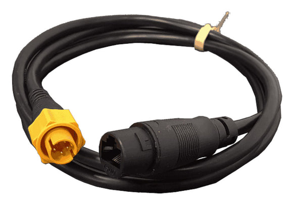 Halo Dome radar Ethernet adapter cable, RJ45 TO 5 Pin male, 1.5 m (4.9 ft). Ships with water proof boot.