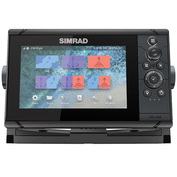 Simrad CRUISE 7, ROW BASE CHART, 83/200 XDCR