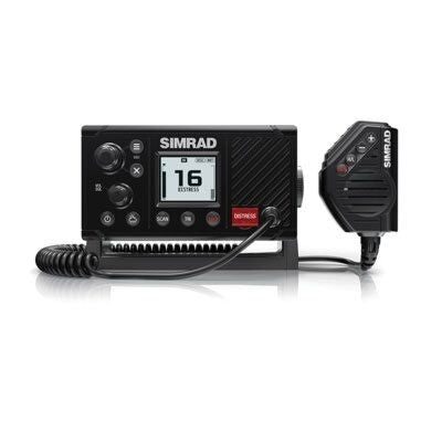 Simrad 000-13545-001 RS20 VHF Radio Low-profile fixed mount 25-Watt DSC with NMEA 2000® compatibility.