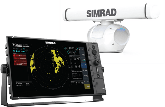 Dedicated 16-inch radar display and Halo™ Pulse Compression radar with a 4-foot array.