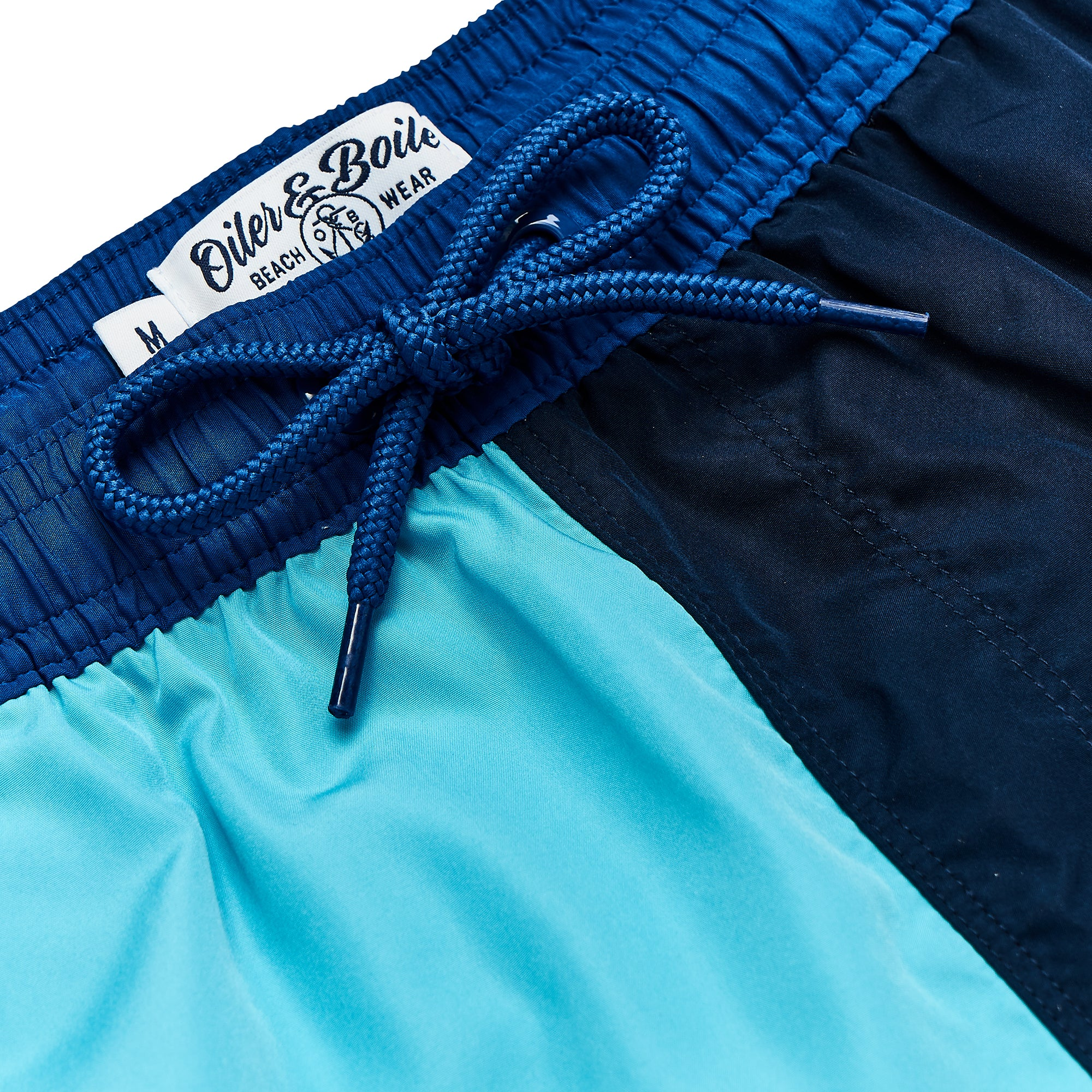 Aquatic Blue & Navy Contrast Swim Short, Shorter Length