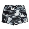 Photographic Palm Surf Pattern Print Swim Short, Regular Length