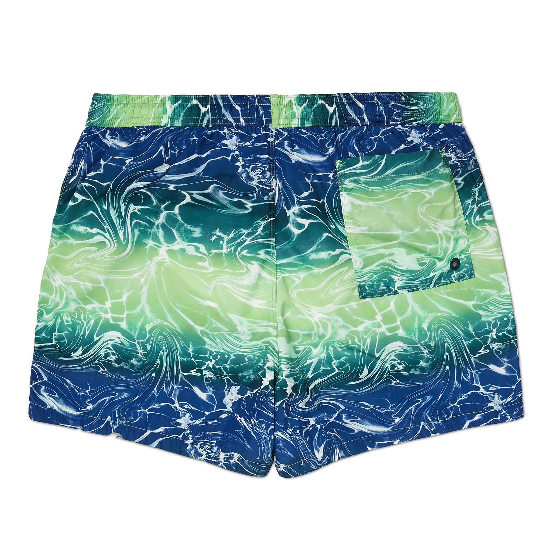 Reflection Wave Print Swim Short, Regular Length
