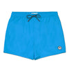 Aqua Blue Logo Swim Short, Regular Length