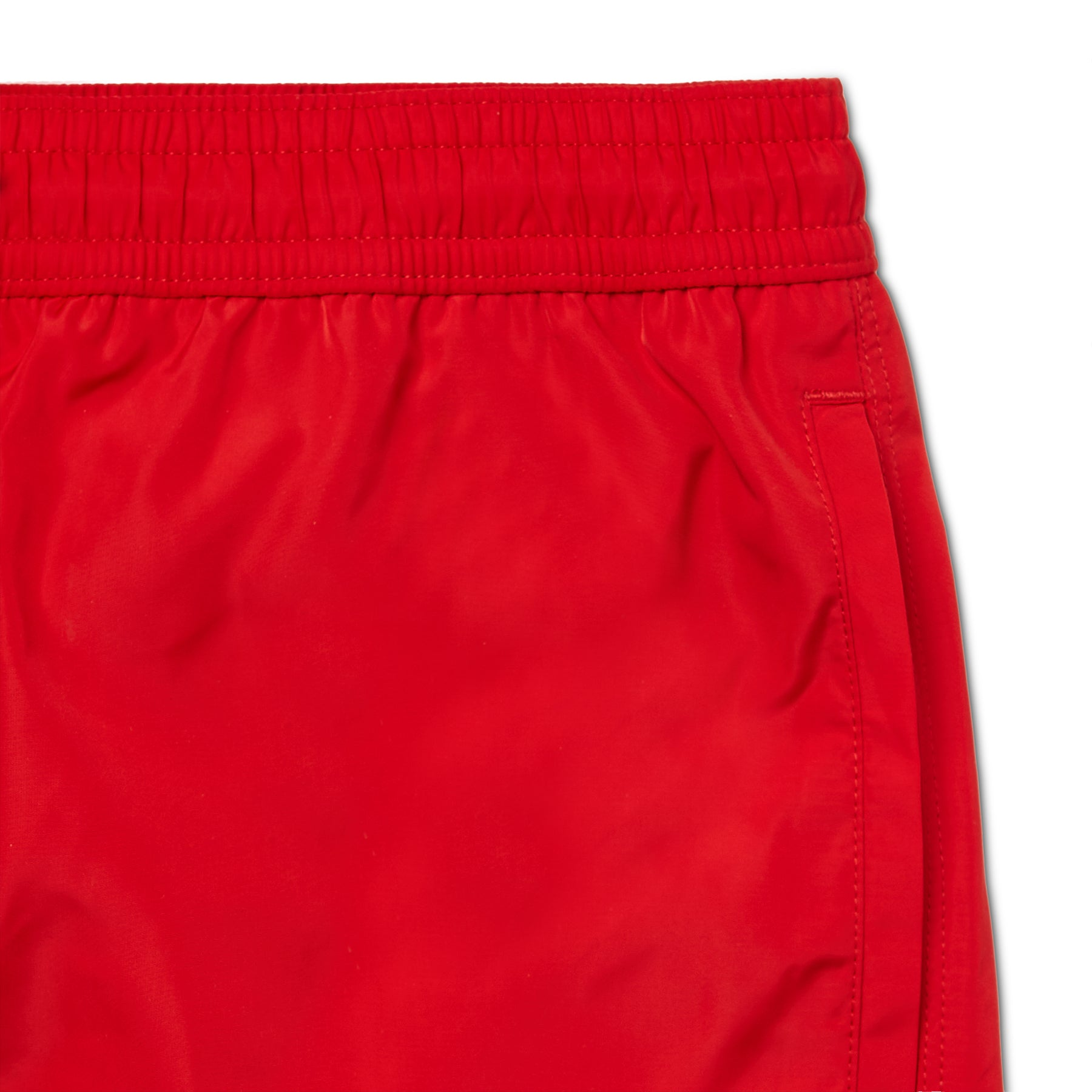 Red Signature Logo Badge Swim Short, Regular Length