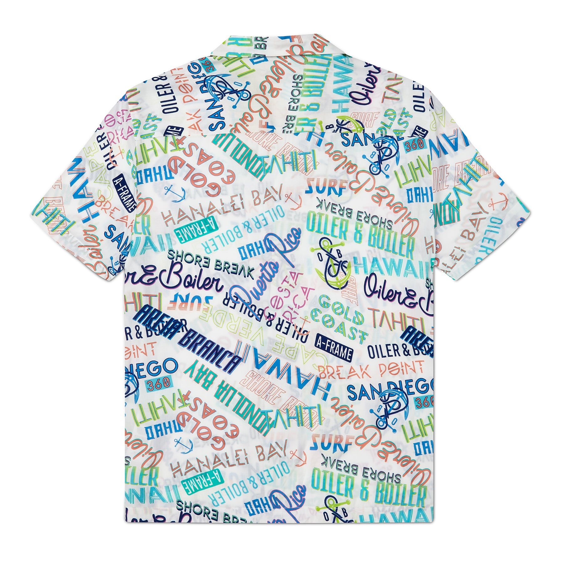 Hypergraphic Print Resort Shirt