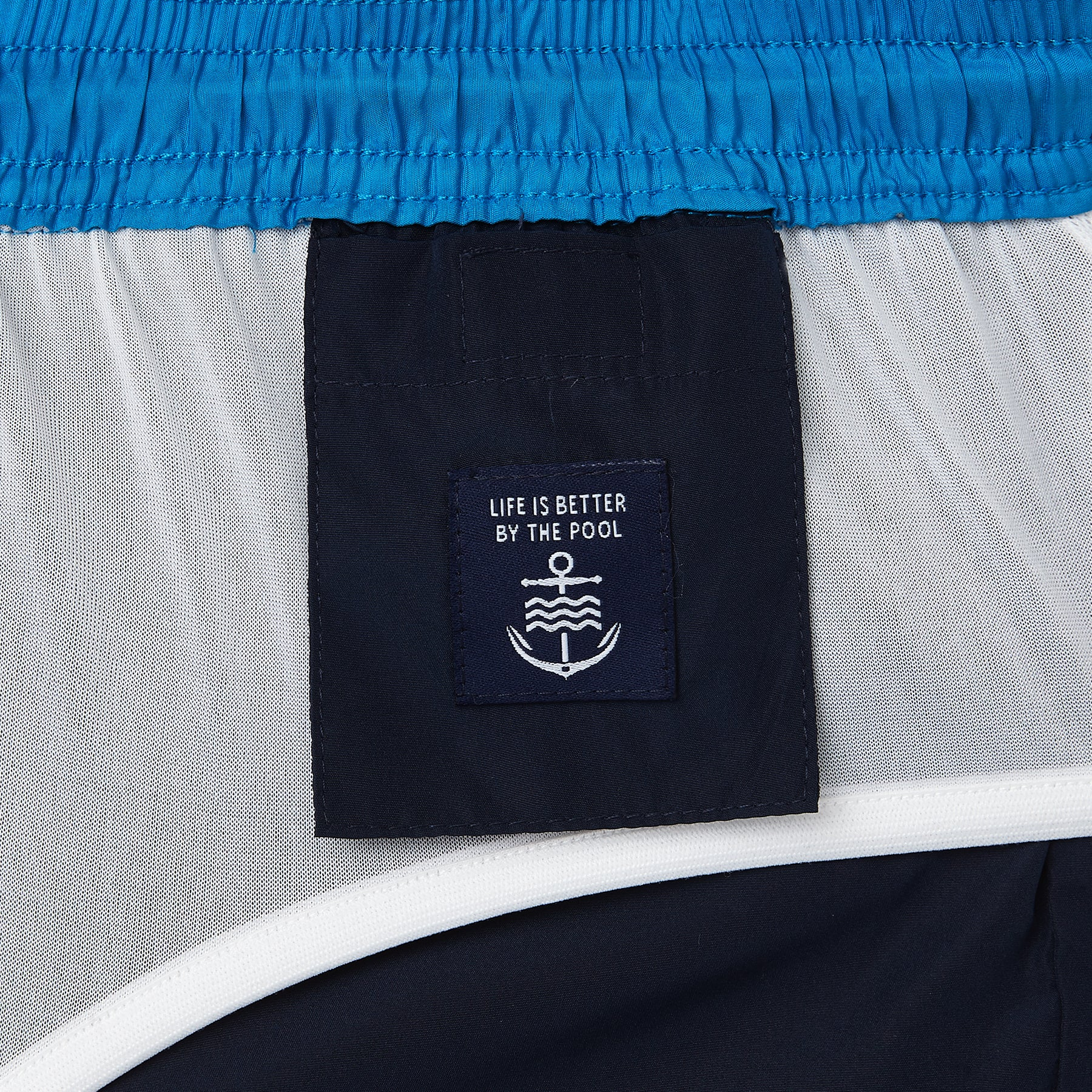 Navy Runner Swim Short, Shorter Length