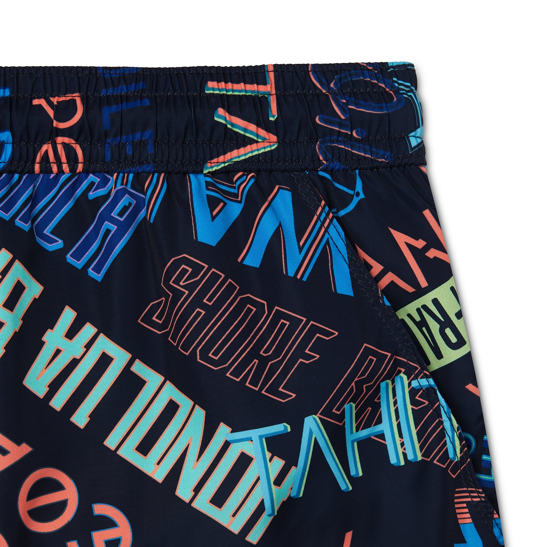 Hypergraphic Print Swim Short, Shorter Length