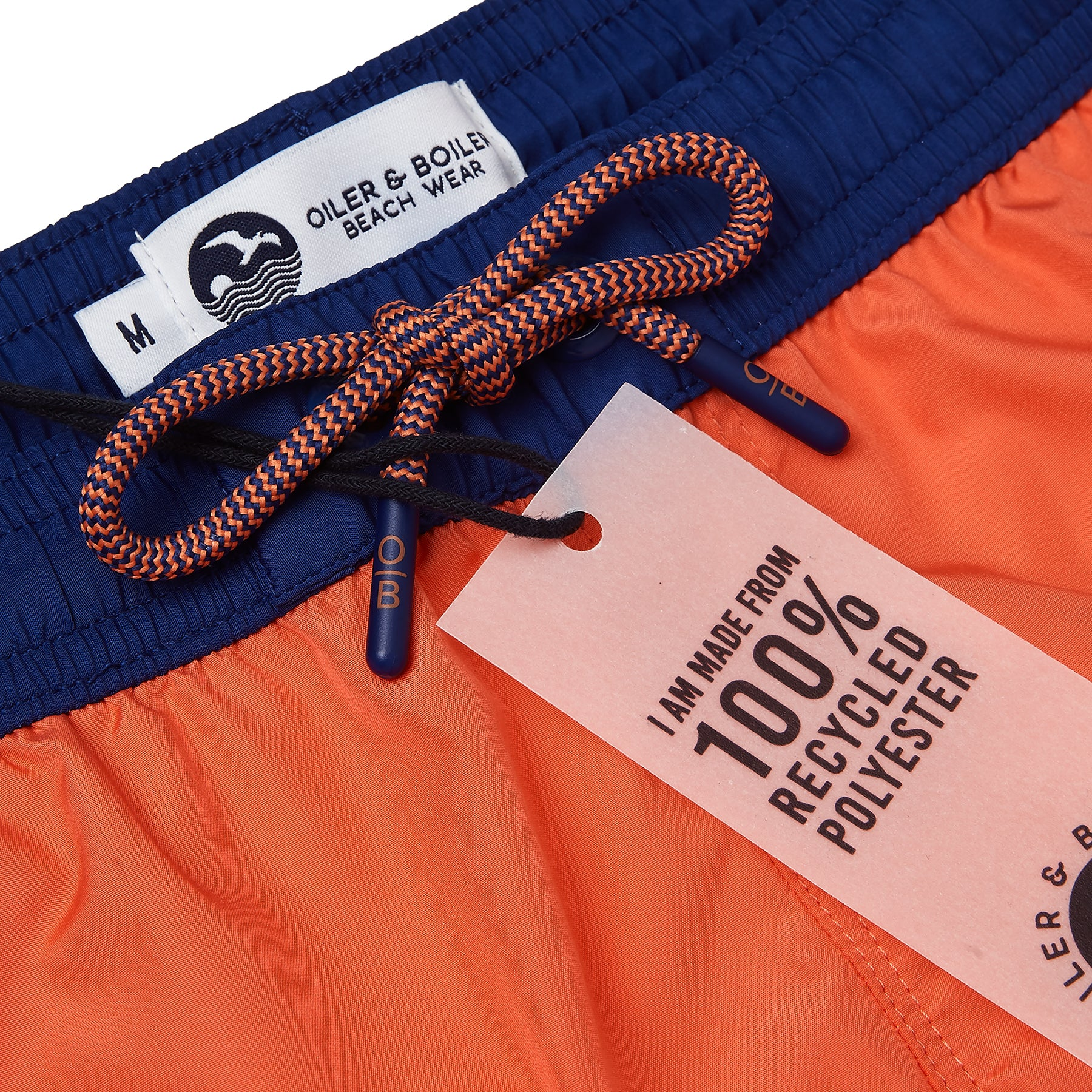 Orange Runner Swim Short, Shorter Length