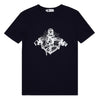 Navy O&B Graphic Logo Print Tee, Muscle Fit
