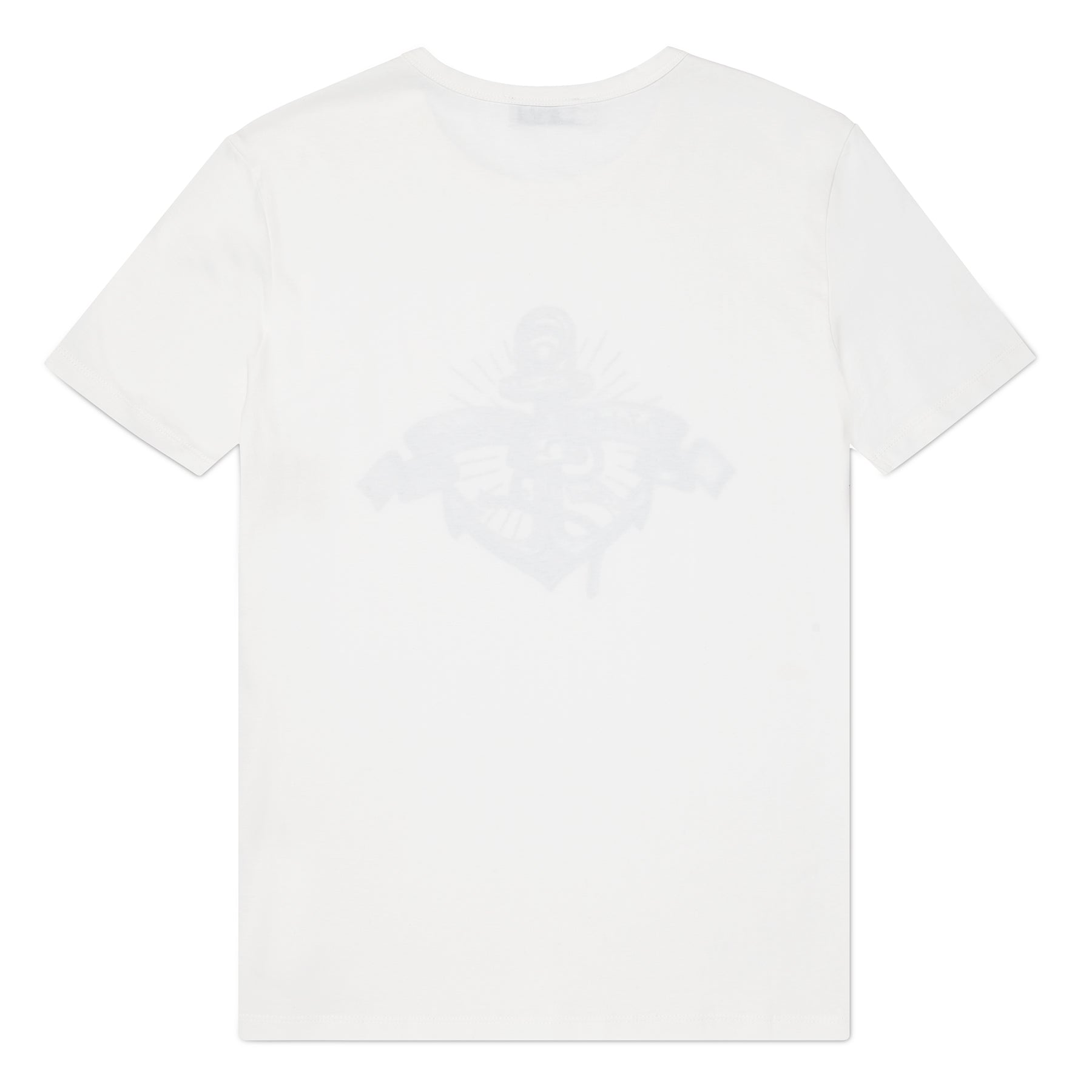 White O&B Graphic Logo Print Tee, Muscle Fit