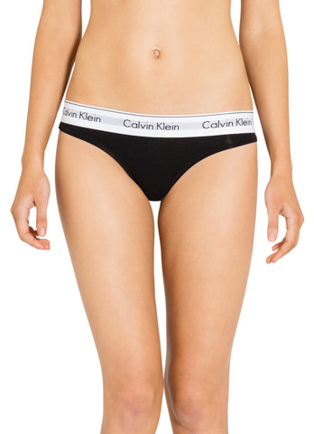 CALVIN KLEIN </BR> <span style='font-size:12px; font-weight:normal;'> CK Modern Cotton Thong </span>