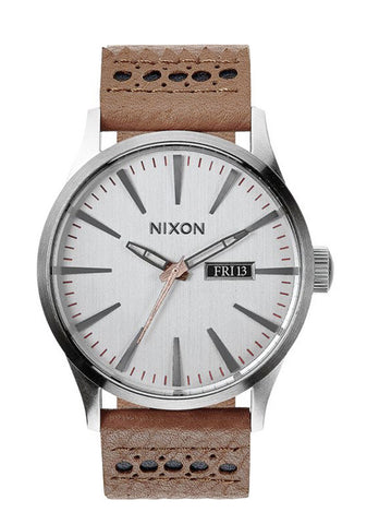 NIXON <BR/> <span style='font-size:12px; font-weight:normal;'> Sentry Leather  </span>