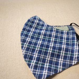 Mask (Lrg) - Blue, Green Plaid