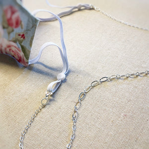 Mask Necklace - Silver Chain