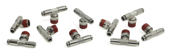 "3/8"" NPT(M) 1/4"" to 1/4"" Swivel T-Fitting (10 pcs) DOT Approved"