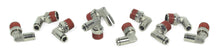 "3/8"" NPT(M) to 1/4"" Airline 90 Degree Swivel Elbow Fitting (10 pcs) DOT Approved"