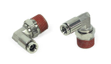 "3/8"" NPT(M) to 1/4"" Airline 90 Degree Swivel Elbow Fitting (2 pcs) DOT Approved"