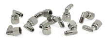 "3/8"" NPT(F) to 1/4"" Airline 90 Degree Swivel Elbow Fitting (10 pcs) DOT Approved"