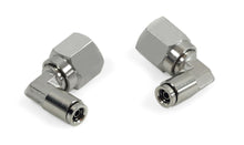 "3/8"" NPT(F) to 1/4"" Airline 90 Degree Swivel Elbow Fitting (2 pcs) DOT Approved"