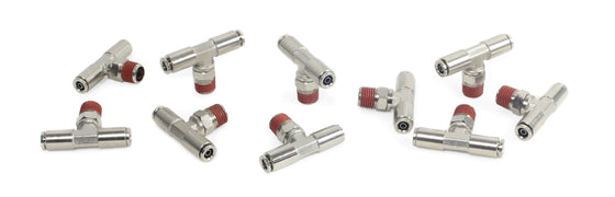 "1/4"" NPT(M) 1/4"" to 1/4"" Swivel T-Fitting (10 pcs) DOT Approved"