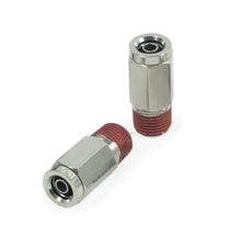 "1/8"" NPT(M) to 1/4"" Airline Straight Fitting (2 pcs) DOT Approved"