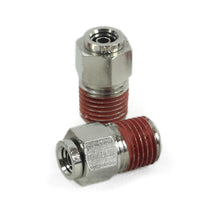 "1/4"" NPT(M) to 1/4"" Airline Straight Fitting (2 pcs) DOT Approved"
