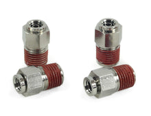 "1/4"" NPT(M) to 1/4"" Airline Straight Fitting (4 pcs) DOT Approved"