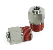 "3/8"" NPT(M) to 1/4"" Airline Straight Fitting (2 pcs) DOT Approved"