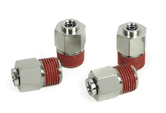 "3/8"" NPT(M) to 1/4"" Airline Straight Fitting (4 pcs) DOT Approved"