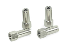 "1/8"" NPT(F) to 1/4"" Airline Straight Fitting (4 pcs) DOT Approved"