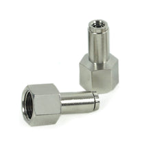 "3/8"" NPT(F) to 1/4"" Airline Straight Fitting (2 pcs) DOT Approved"
