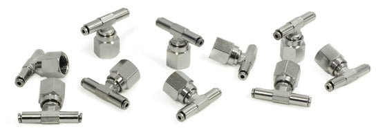 "3/8"" NPT(F) 1/8"" to 1/8"" Swivel T-Fitting (10 pcs) DOT Approved"