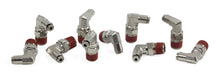 "1/4"" NPT(M) to 1/8"" Airline 90 Degree Swivel Elbow Fitting (10 pcs) DOT Approved"