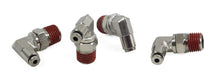 "1/4"" NPT(M) to 1/8"" Airline 90 Degree Swivel Elbow Fitting (4 pcs) DOT Approved"
