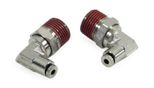 "3/8"" NPT(M) to 1/8"" Airline 90 Degree Swivel Elbow Fitting (2 pcs) DOT Approved"