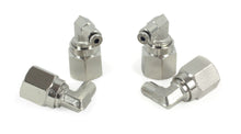 "1/8"" NPT(F) to 1/8"" Airline 90 Degree Swivel Elbow Fitting (4 pcs) DOT Approved"