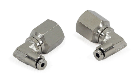 "1/4"" NPT(F) to 1/8"" Airline 90 Degree Swivel Elbow Fitting (2 pcs) DOT Approved"
