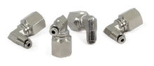 "1/4"" NPT(F) to 1/8"" Airline 90 Degree Swivel Elbow Fitting (4 pcs) DOT Approved"