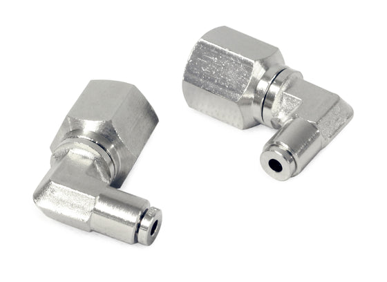 "3/8"" NPT(F) to 1/8"" Airline 90 Degree Swivel Elbow Fitting (2 pcs) DOT Approved"
