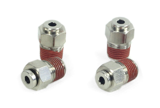 "1/8"" NPT(M) to 1/8"" Airline Straight Fitting (4 pcs) DOT Approved"