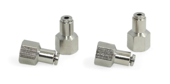 "1/8"" NPT(F) to 1/8"" Airline Straight Fitting (4 pcs) DOT Approved"