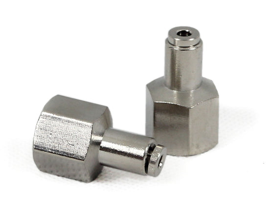 "1/4"" NPT(F) to 1/8"" Airline Straight Fitting (2 pcs) DOT Approved"