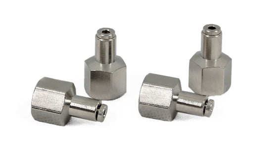 "1/4"" NPT(F) to 1/8"" Airline Straight Fitting (4 pcs) DOT Approved"