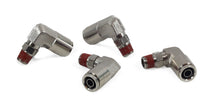 "1/8"" NPT(M) to 3/8"" Airline 90 Degree Swivel Elbow Fitting (4 pcs) DOT Approved"
