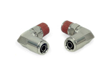 "1/4"" NPT(M) to 3/8"" Airline 90 Degree Swivel Elbow Fitting (2 pcs) DOT Approved"